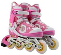 Ролики MaxCity Little Rabbit Combo Pink р. 31-34